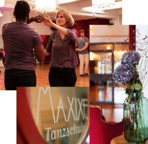 Collage Tanzpaar und Vase