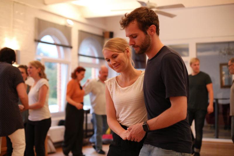 Tänzer tanzen Swing