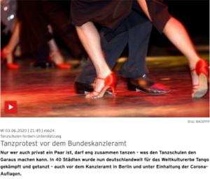 Link zu rbb24: Tanzproteste vor dem Bundeskanzleramt