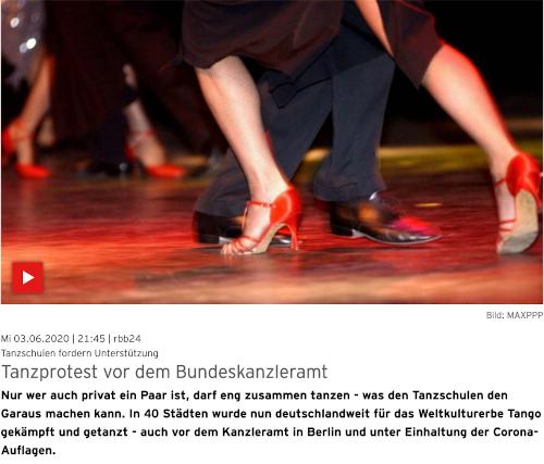 rbb24: Tanzprotest vor dem Bundeskanzleramt